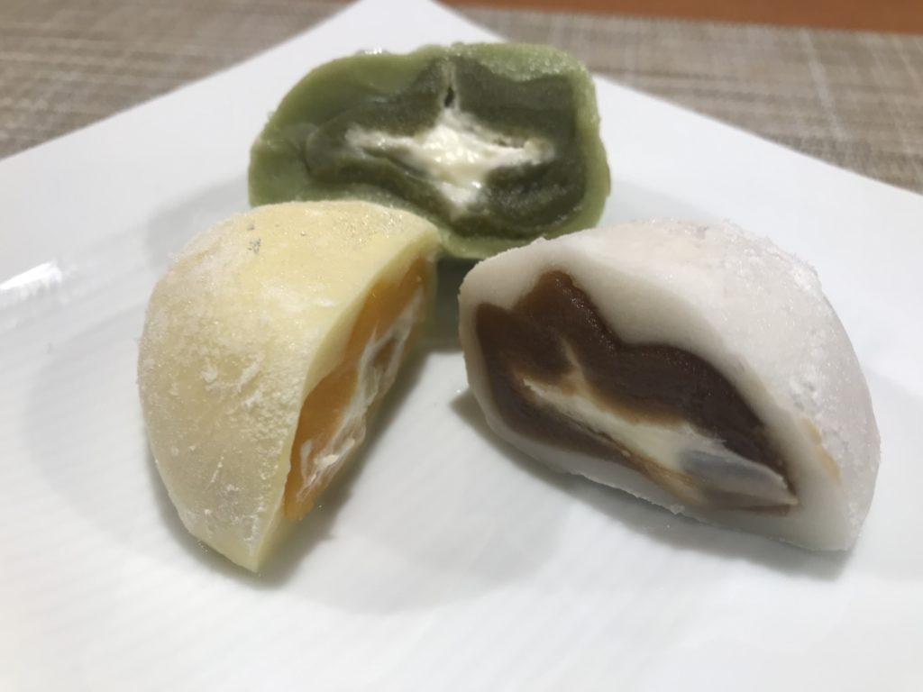 ハラル大福(マンゴー・抹茶・カフェオレ)